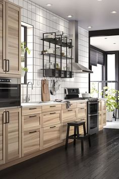 Best A Large Kitchen With Sektion Torhamn Natural Ash Doors 400 x 300