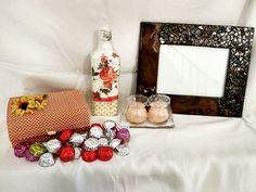 """Shikha kreations on Instagram: """"Its wedding season!!! if you are looking for some handmade gifting options for your friend or close one we have some gifting hamper…"""" Hamper, Wedding Season, Napkin Rings, Seasons, Frame, Handmade, Instagram, Home Decor, Picture Frame"""