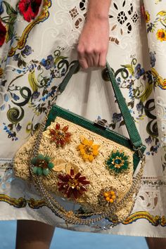 Dolce & Gabbana at Milan Fashion Week Spring 2016 - Details; Crochet Bag Purse bags purses dolce & gabbana Dolce & Gabbana at Milan Fashion Week Spring 2016 Crochet Handbags, Crochet Bags, Crochet Clothes, Crochet Purses, Crochet Kids Scarf, New Fashion Clothes, Fashion Outfits, Dolce & Gabbana, Macrame Bag