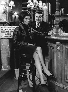 Honor Blackman and Patrick Macnee