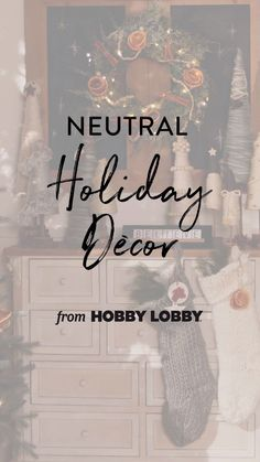 Take your home from Thanksgiving to Christmas with neutral, natural accents. Watch the full video on our DIY Projects & Videos page! Decor Crafts, Diy Home Decor, Diy Crafts, Take You Home, Diy Projects Videos, Christmas Decorations, Holiday Decor, Fall Decor, Farmhouse Decor