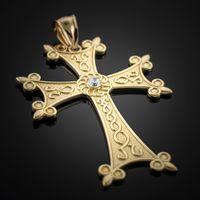 Gold Armenian Cross Pendant