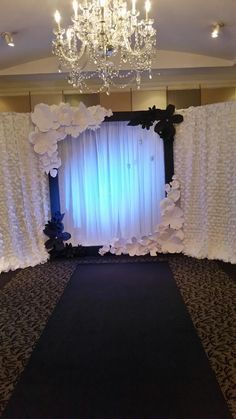 Our handmade paper flower #weddingdecor displayed at the 103 West #Bridal Open…