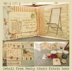 Curious Clare: Fabric Book Workshop with Becky Adams at Unit Twelve