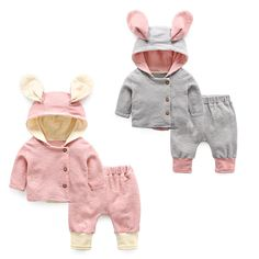 Baby set spring and autumn clothes coat+pants baby clothes #Affiliate