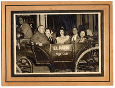 1945 Nightclub Souvenir Photo El Patio Night Club 2 Couples in A Carriage | eBay