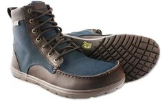 Lems - Women's Boulder Boot Navy Stout: Collapsible, Minimalist Boot