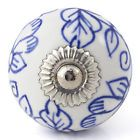Blue purple turquoise ceramic knobs drawer pulls cupboard door knobs