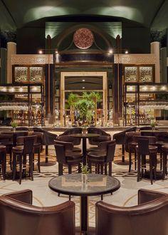 "Kerridge's Bar & Grill, Corinthia Hotel London - dpa lighting consultants - ""Right Light, Right Place, Right Time"" ™ London Restaurants, London Hotels, Restaurant Lighting, Restaurant Bar, Grill Bar, Oriental Hotel, Bar Design Awards, Light Architecture"