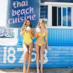 This photo makes me happy. Besties and bikinis. BYO yellow bikini.   www.bornwithit.com.au
