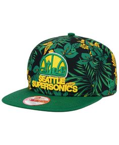 New Era Seattle SuperSonics Wowie 9FIFTY Snapback Cap Men - Sports Fan Shop  By Lids - Macy s 97ab6df63