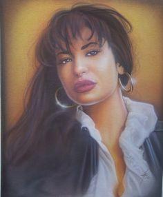 SELENA QUINTANILLA airbrushed portrait on XL T-shirt | eBay