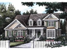 Eplans Country House Plan - Irresistible Southern Cottage - 2438 Square Feet and 4 Bedrooms from Eplans - House Plan Code HWEPL08668