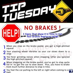 Care Tip: Most would agree that brakes are the most important feature of you. -Car Care Tip: Most would agree that brakes are the most important feature of you. Service Auto, Car Repair Service, Vehicle Repair, Audi, Car Care Tips, Car Fix, Bmw Autos, Thing 1, Car Hacks