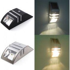 Stainless Steel Solar Power Highlight LED PIR Induction Wall Light