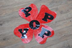 Cut out 4 large red poppy shaped petals and a black centre circle  hold up/stick up or lay on floor to show that they make a Poppy Cut out P-O-P-P-Y in black letters  put letters on the petals and replace the centre circle with the O  Explain that they represent:  P for Praise God  O for Offering  P for Prayer  P for Peace   Y for You:  You can make the choice to bring peace to your own life and the life of those around you and hope for peace in the world World Peace, Black Letter, Praise God, Children And Family, Red Poppies, Poppy, Centre, Families, Prayers