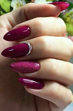 False nails have the advantage of offering a manicure worthy of the most advanced backstage and to hold longer than a simple nail polish. The problem is how to remove them without damaging your nails. Marriage is one of the… Continue Reading → Burgundy Nails, Red Nails, Matte Nails, Magenta Nails, Shiny Nails, Purple Glitter Nails, Dark Pink Nails, Maroon Nails, Glitter Paint