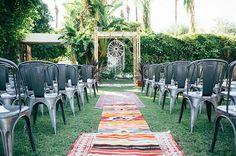 palm springs boho ceremony