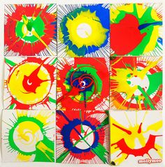 Amazing color, contrasts and patterns with Spin 'n Twirl Art Toy. to see the step by step action Preschool Art, Craft Activities For Kids, Crafts For Kids, Primary School Art, Easy Art For Kids, Ecole Art, Collaborative Art, Science Art, Diy Arts And Crafts
