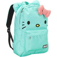 Loungefly Hello Kitty Green/White Polka Dot Backpack ($45) ❤ liked on Polyvore featuring bags, backpacks, green, school & day hiking backpacks, backpack laptop bag, white hello kitty backpack, shoulder strap backpack, hello kitty bag and pocket backpack