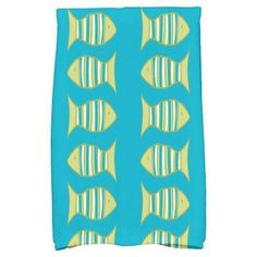 E by Design Somethings Fishy Kitchen Towel Turquoise - KTAN425BL27GR21