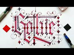 Caligrafía Gótica - Gothic calligraphy - Pilot Parallel Pen - YouTube