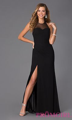 Long High Neck Halter Gown by Faviana at PromGirl.com
