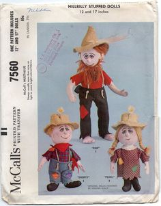 Hillbilly Cloth Dolls Paw Shorty And Pearl Crafts by Rosie247
