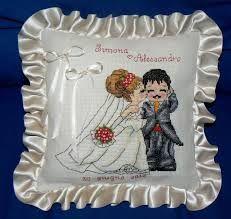 Risultati immagini per sposi a punto croce