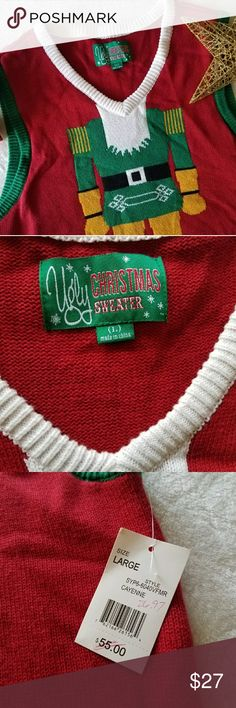 ❄ Men's Nutcracker X-Mas Vest ❄  Brand new with tags!  Size Large  Awesome X-Mas Vest! Perfect for those Ugly Christmas Sweater parties or just to celebrate for X-Mas!  Who wants to be the next Nutcracker?  Questions? Just ask!  Ugly Christmas Sweater Jackets & Coats Vests