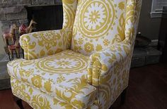 Chairs Redesigned - Queen Anne form meets modern fabric update!