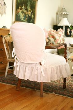 august blues antique rocking chair slipcover with ties to fit around the arms slipcovers pinterest chair slipcovers rocking chairs and upholstery