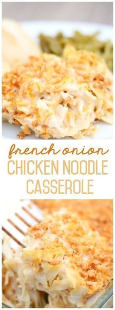 French Onion Chicken Noodle Casserole from SixSistersStuff.com. Even my picky eaters loved this! | Main Dish Recipes