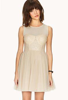 Festive Sequined Mesh Dress | FOREVER21 - 2000129019