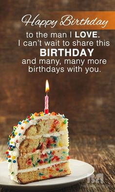 Birthday Quotes QUOTATION - Image : Quotes about Birthday - Description 20 Special Birthday Love Quotes For Him For His Big Day Sharing is Caring - Hey can you Share this Quote Happy Birthday Quotes For Him, Birthday Wish For Husband, Birthday Wishes For Boyfriend, Happy Birthday My Love, Birthday Wishes Quotes, Happy Birthday Images, Birthday Messages, Special Birthday, Birthday Greetings
