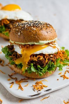 The ultimate loaded veggie burger, now with egg!!