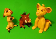 Lion King inspired Simba, Timon and Pumba Cake Toppers
