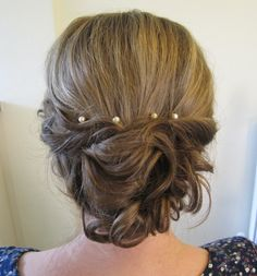 Wedding Hair - Vintage Inspired www.weddingmakeupandhairstyling.co.uk # Bridal Hair  Makeup by Katy Richards