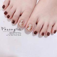 Square Nail Designs, Gel Designs, Nail Art Designs, Feet Nail Design, New Nail Art Design, Korean Nail Art, Korean Nails, Pretty Toes, Pretty Nails