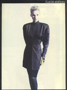 Claude Montana campaign, photographed by Paolo Roversi, 1987
