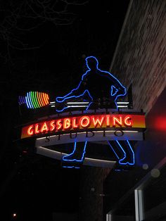 Glass blowing neon sign by kindergentler2001, via Flickr
