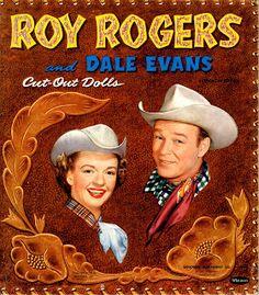 Roy Rogers and Dale Evans Paper Dolls Uncut, Whitman, Vintage 1954 Novi Stars, Dale Evans, Roy Rogers, Happy Trails, Vintage Paper Dolls, Childhood Memories, Comic Books, Fan Art, Retro