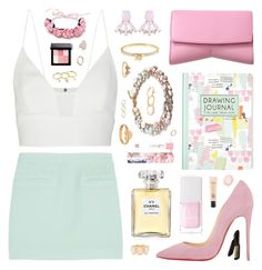 """""""Under Attack"""" by belenloperfido ❤ liked on Polyvore featuring T By Alexander Wang, Narciso Rodriguez, J.Crew, Christian Louboutin, Lady Fox, Michael Kors, Mudd, Chanel, Christian Dior and LAQA & Co."""