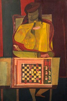 robert macbryde(1913–66), the chess player, c.1947–1950. oil on canvas, 76.2 x 51.3 cm. national galleries of scotland, uk http://www.bbc.co.uk/arts/yourpaintings/paintings/the-chess-player-211981