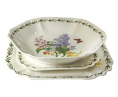 Posto tavola singolo in ceramica Flower - 3 pz