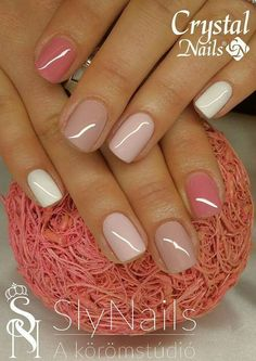nails, You can collect images you discovered organize them, add your own ideas to your collections and share with other people. Cute Gel Nails, Chic Nails, Get Nails, Fancy Nails, Stylish Nails, Trendy Nails, Pink Nails, Nagellack Design, Crystal Nails
