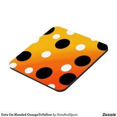 Dots On Blended OrangeToYellow Drink Coaster