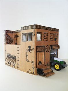 Instruction from Mom: how to make a simple toy house from a ...