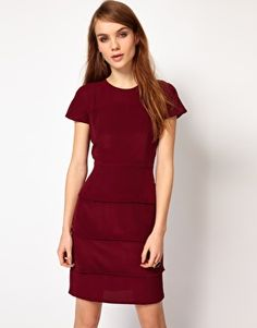 Enlarge French Connection Silk Dress with Tiers