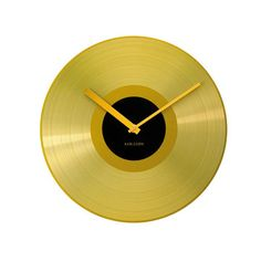 Gold Record Wall Clock  by Karlsson by Present Time